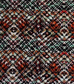 Poly Spandex Knit Fabric -Abstract Geometric