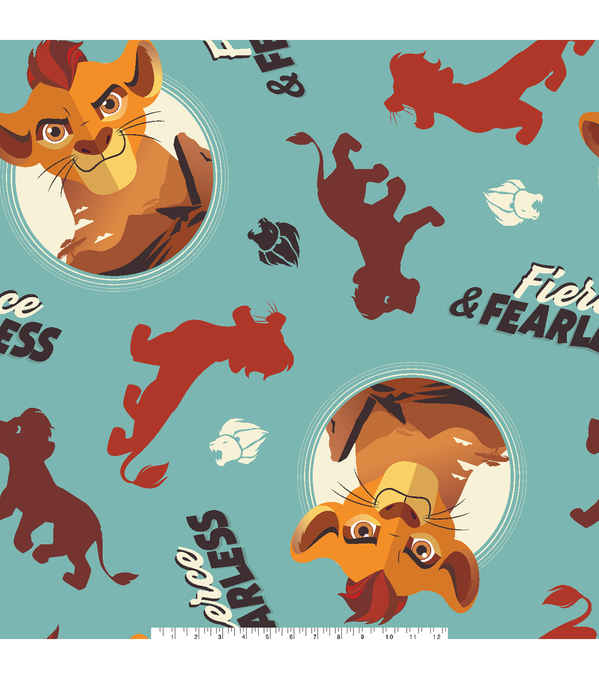 Disney Lion Guard Fleece Fabric 59\u0027\u0027-Fierce & Fearless