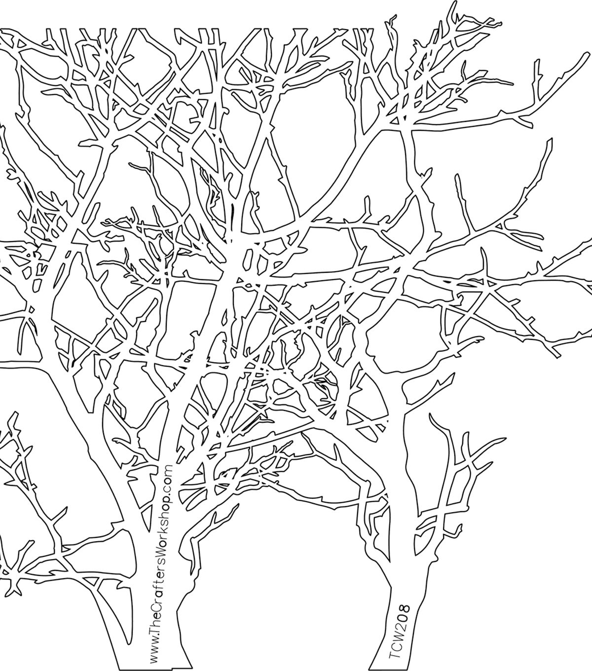 Crafter\u0027s Workshop Templates 6\u0022X6\u0022-Branches