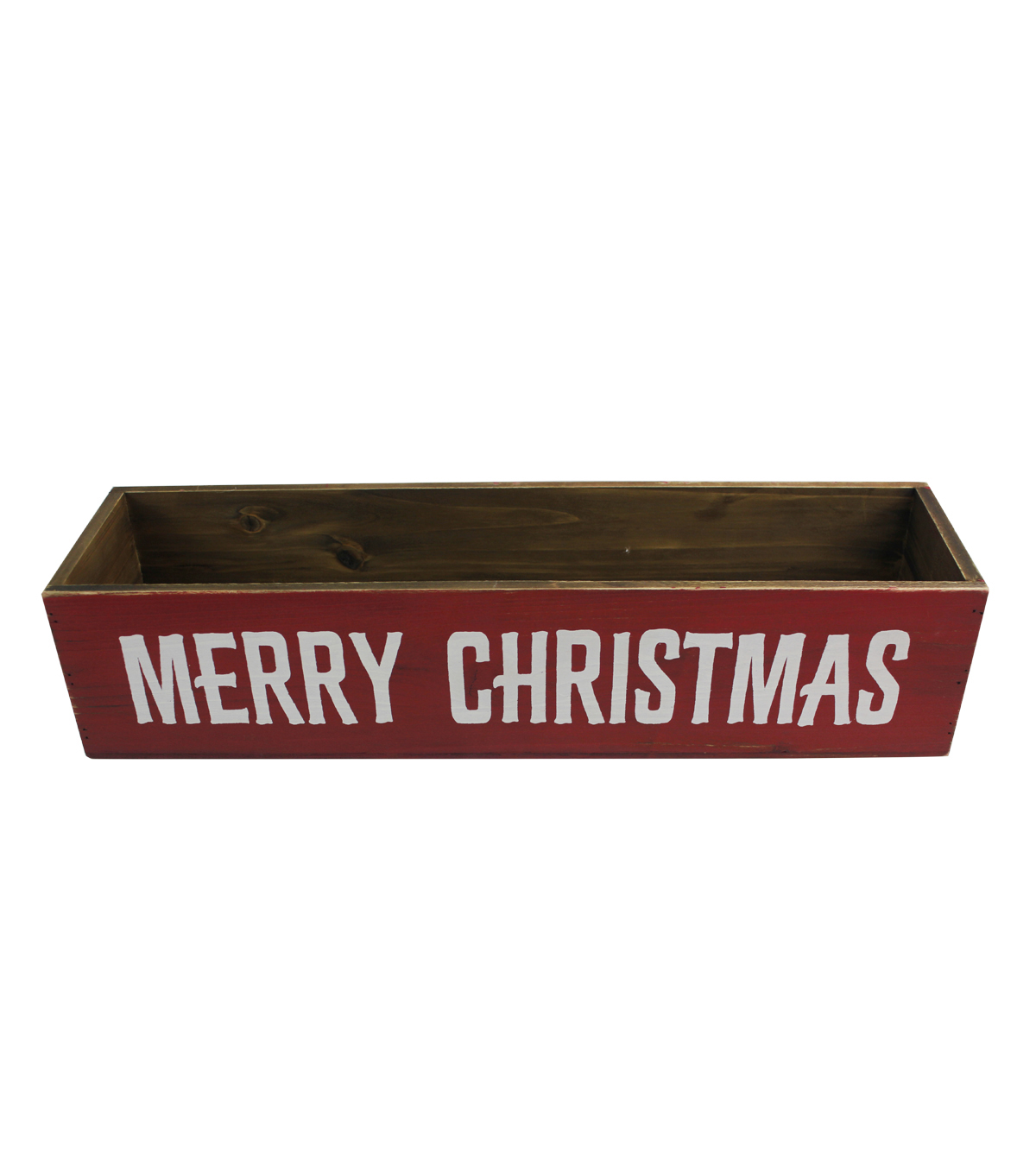 Maker\u0027s Holiday Christmas Wood Container-Merry Christmas