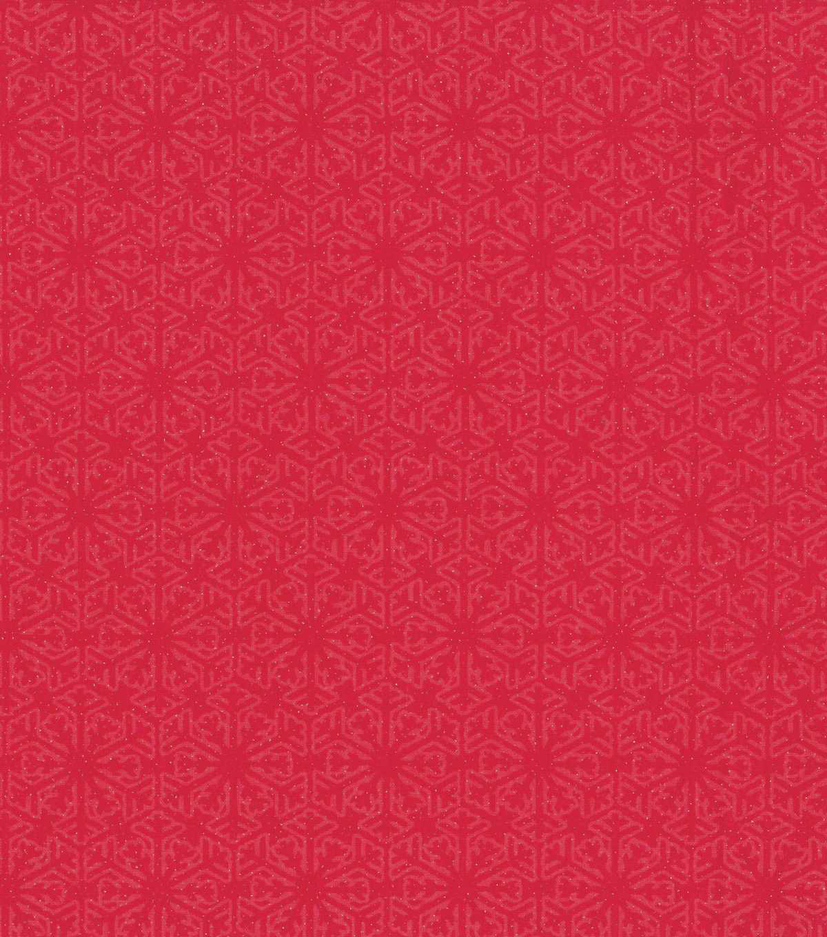 Keepsake Calico Holiday Cotton Fabric 43\u0022-Red Flakes with Glitter