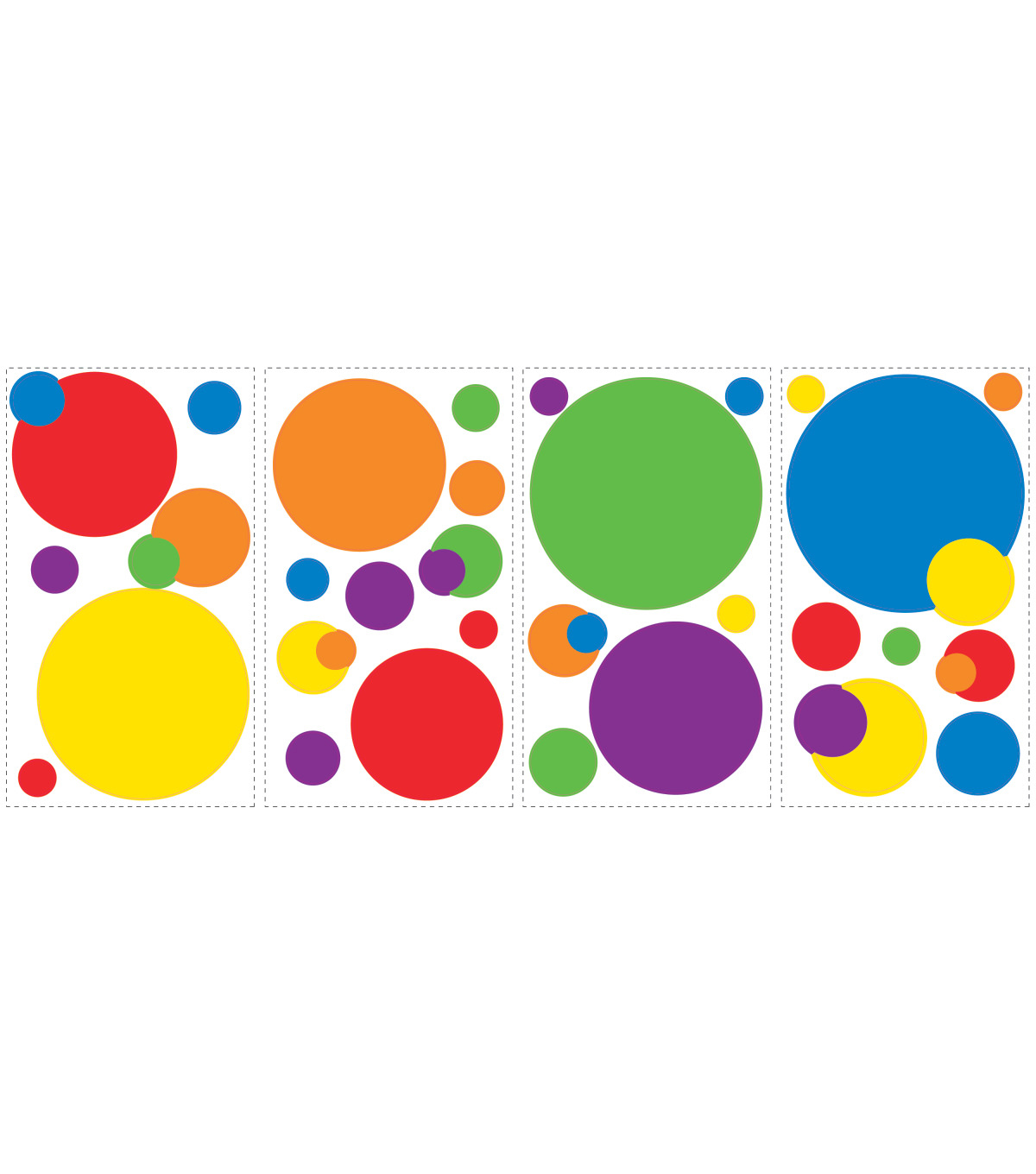 York Wallcoverings Wall Decals-Primary Just Dots