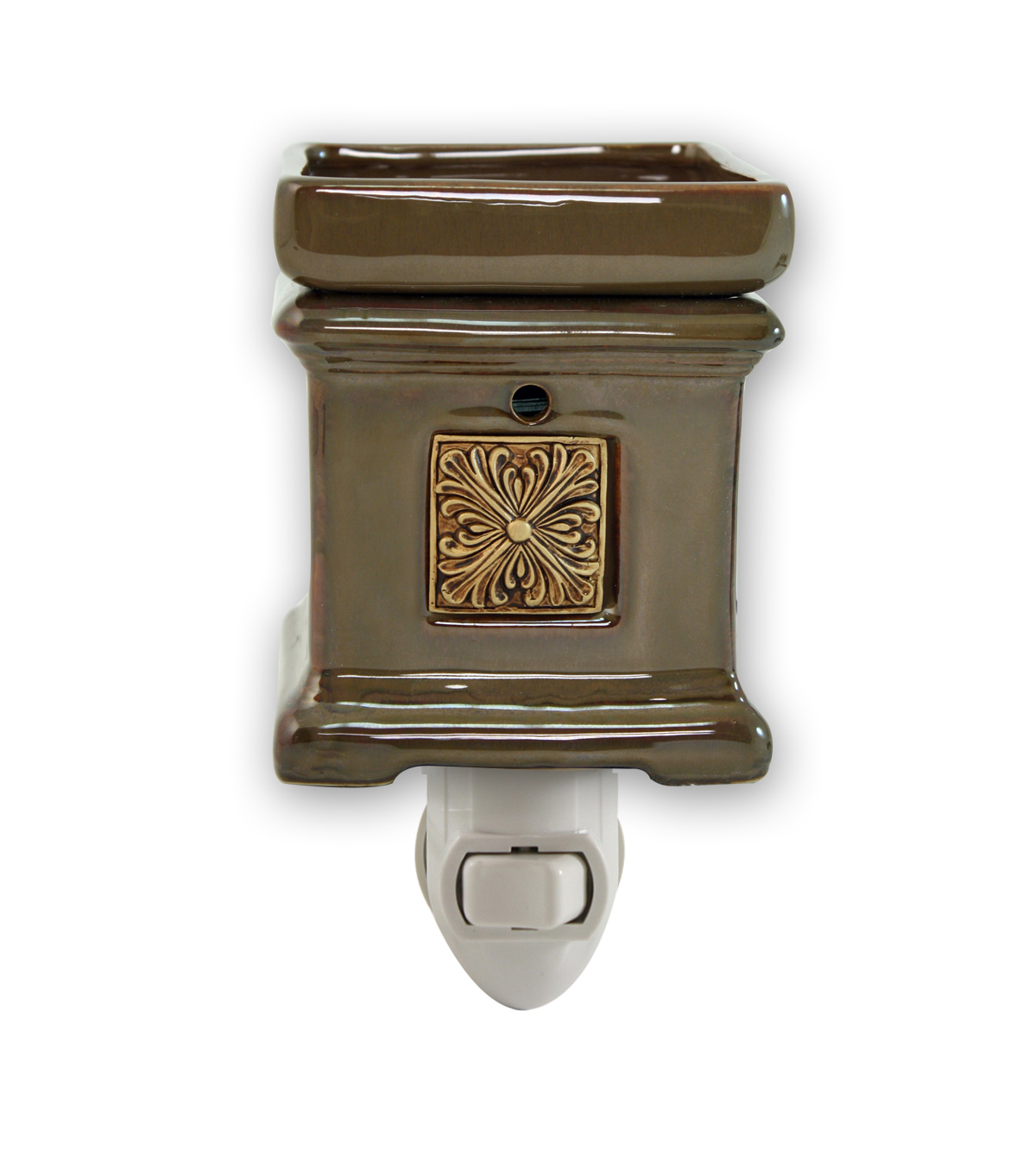 Hudson 43 Candle & Light Collection Brown Square Plug In