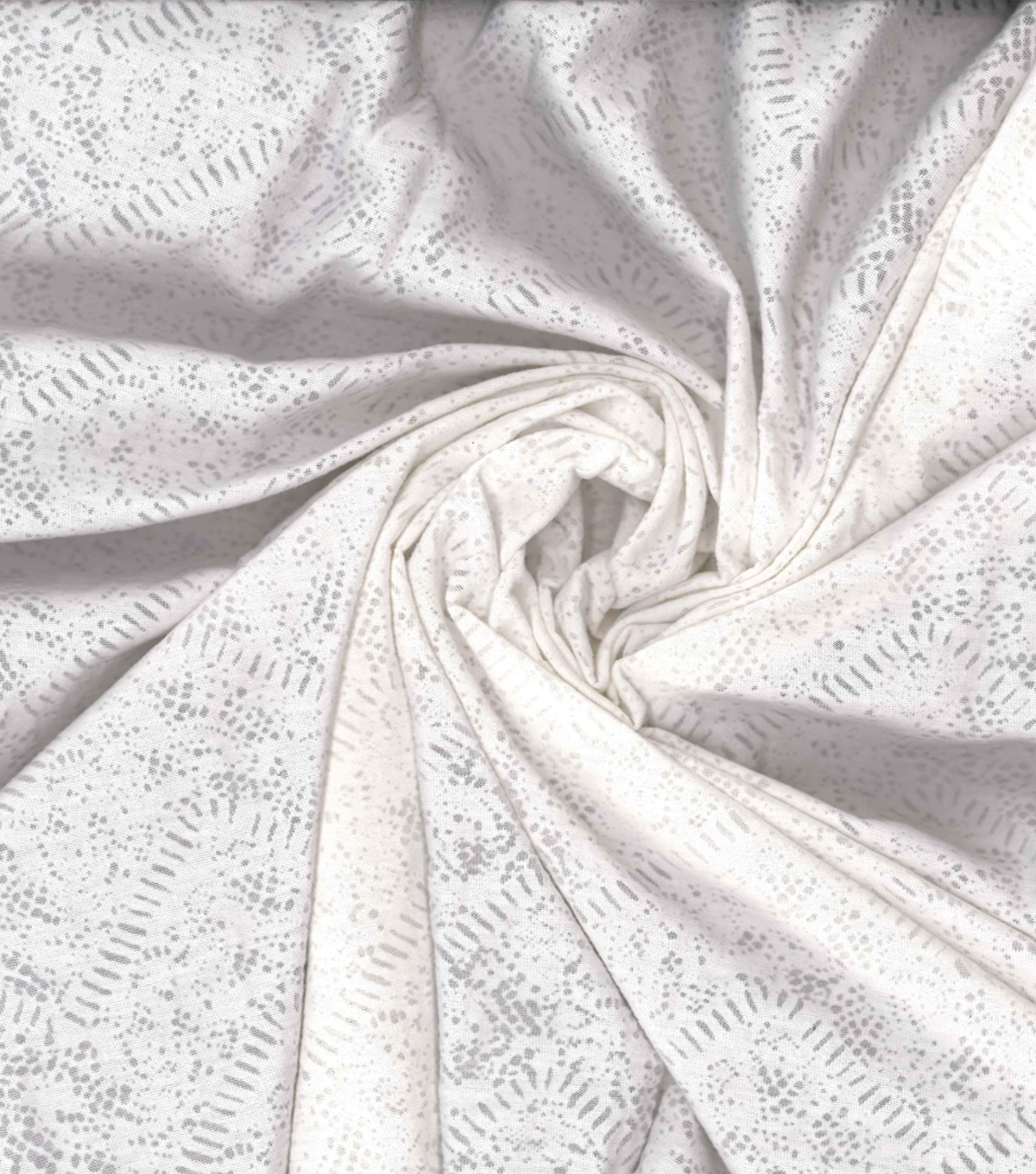 Kathy Davis Apparel Fabric -White Chevron Burnout