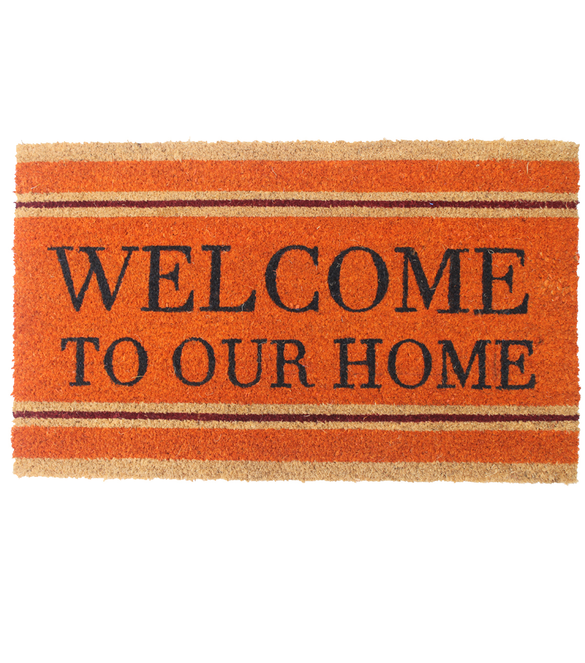 Simply Autumn Coir Mat-Welcome to our Home on Orange