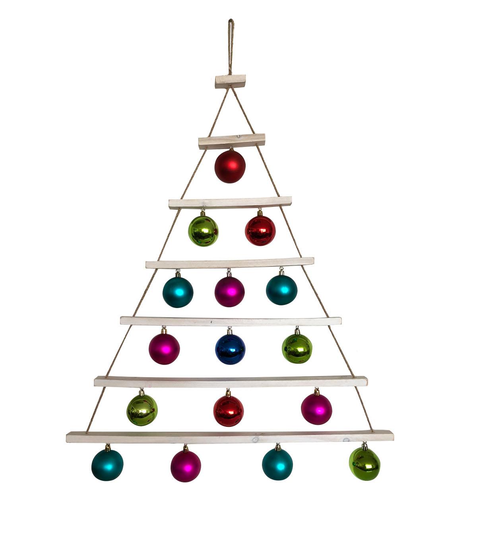 Maker\'s Holiday Christmas Ho Ho Ho Decor Tree with Ornaments Wall ...