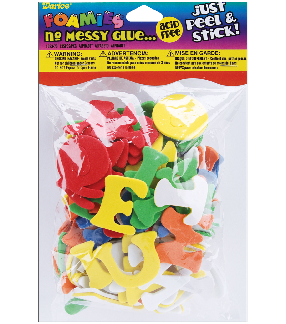 Darice Foam Stickers Assorted Colors Alphabet