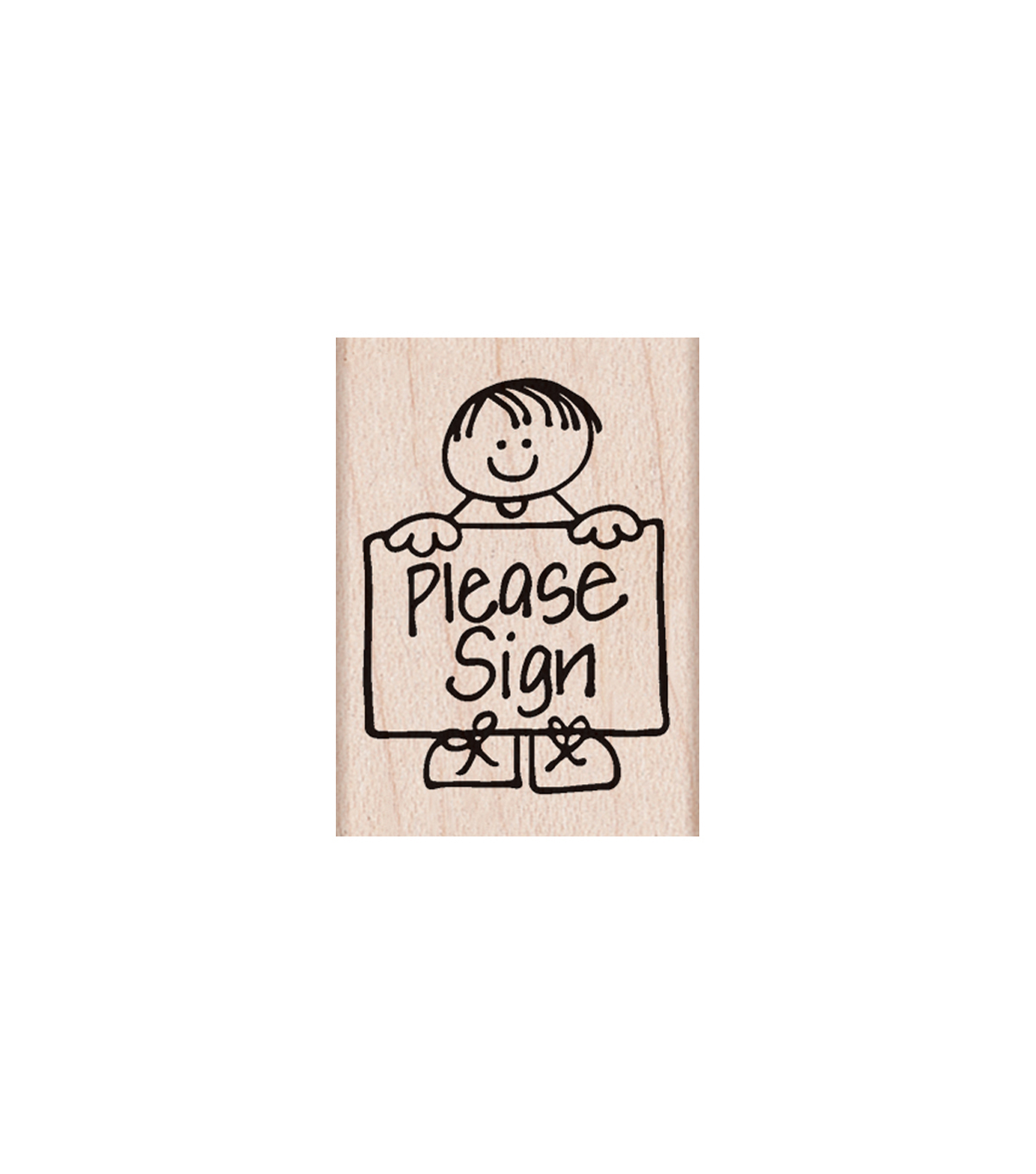 Hero Arts Wood Mounted Rubber Stamp-Please Sign