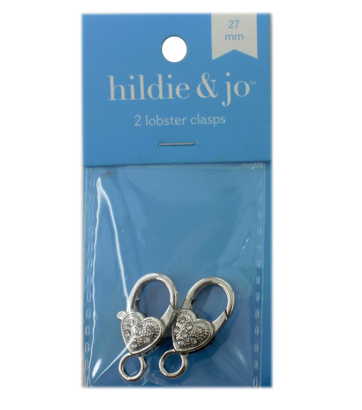 hildie & jo 2 Pack 27mm Silver Decorative Lobster Clasps