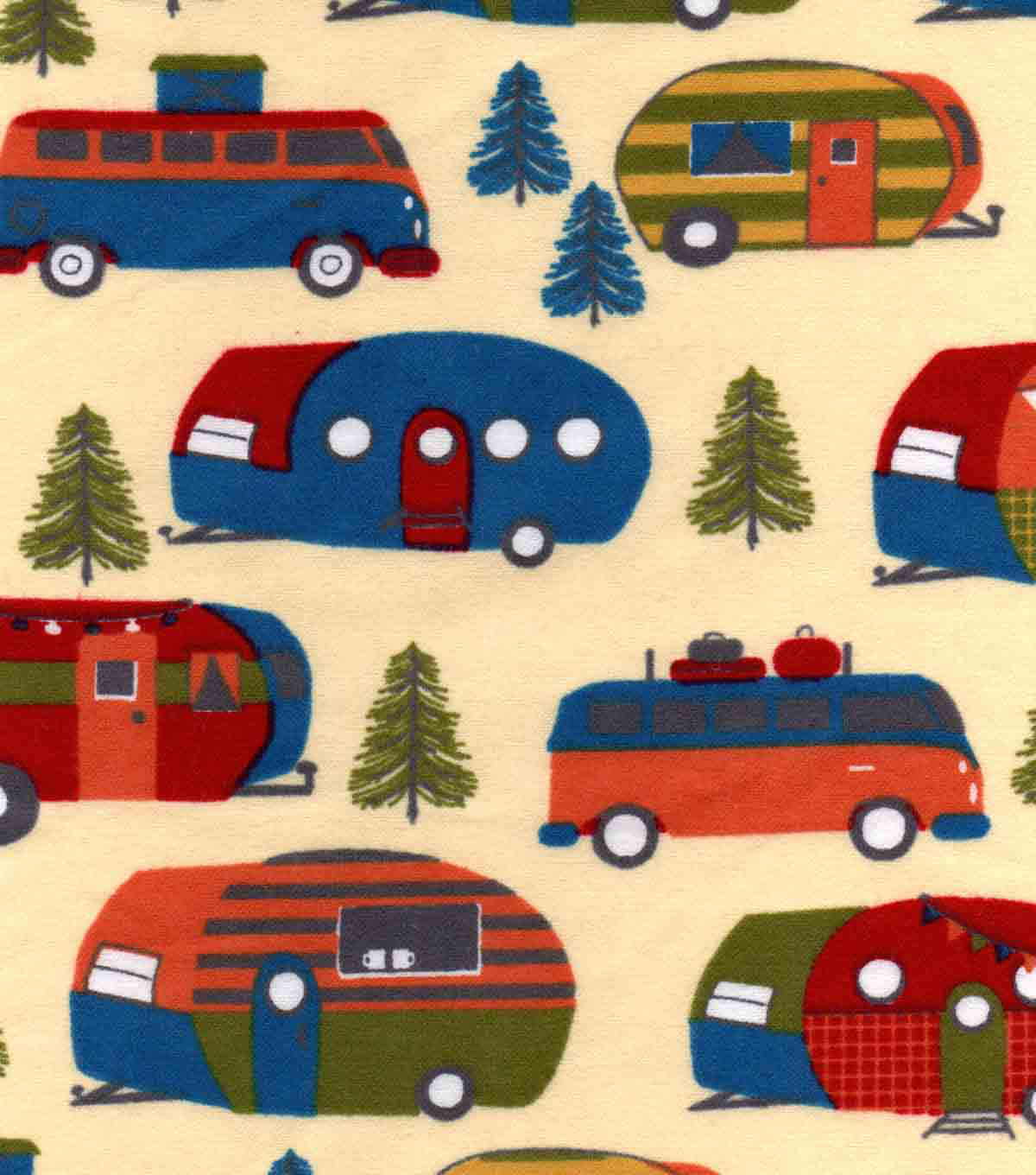 Snuggle Flannel Fabric -Campers & Pines