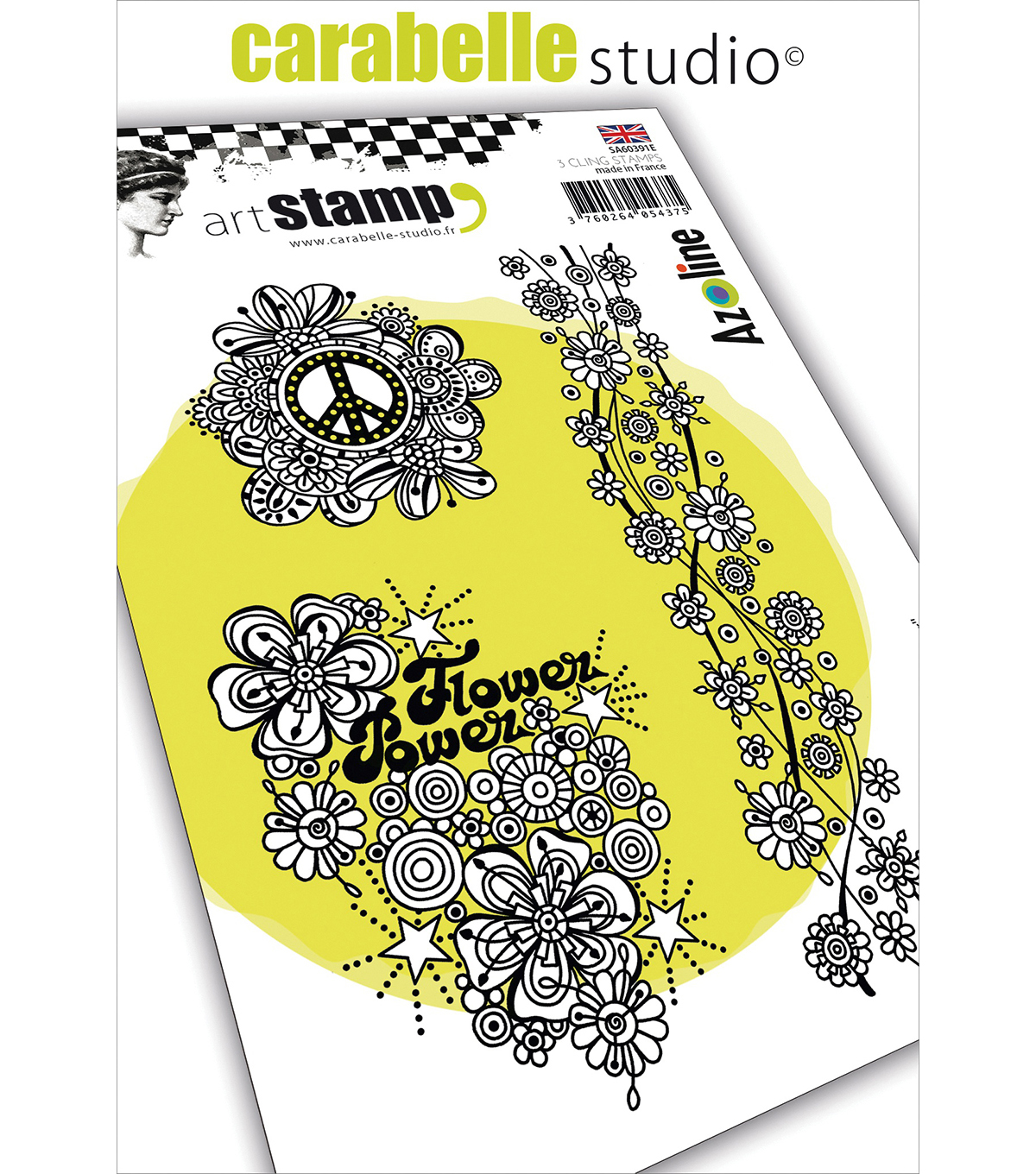 Carabelle Studio Cling Stamp A6 By Azoline-Flower Power