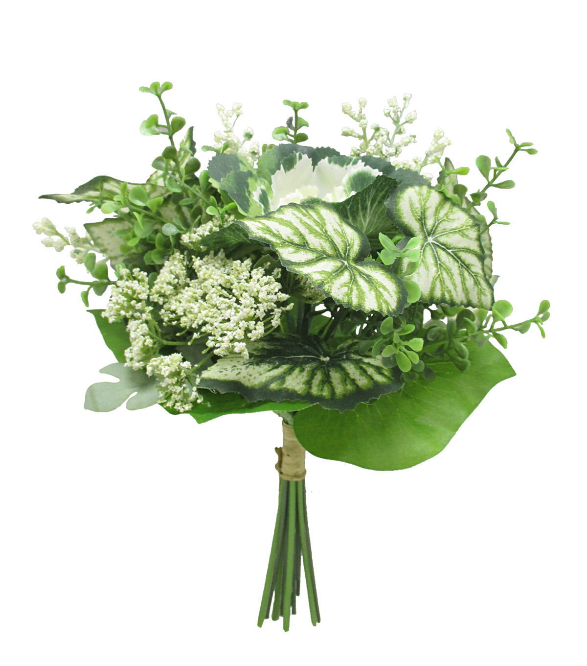 Fresh Picked Spring 11\u0027\u0027 Cabbage Bouquet-Cream & Green