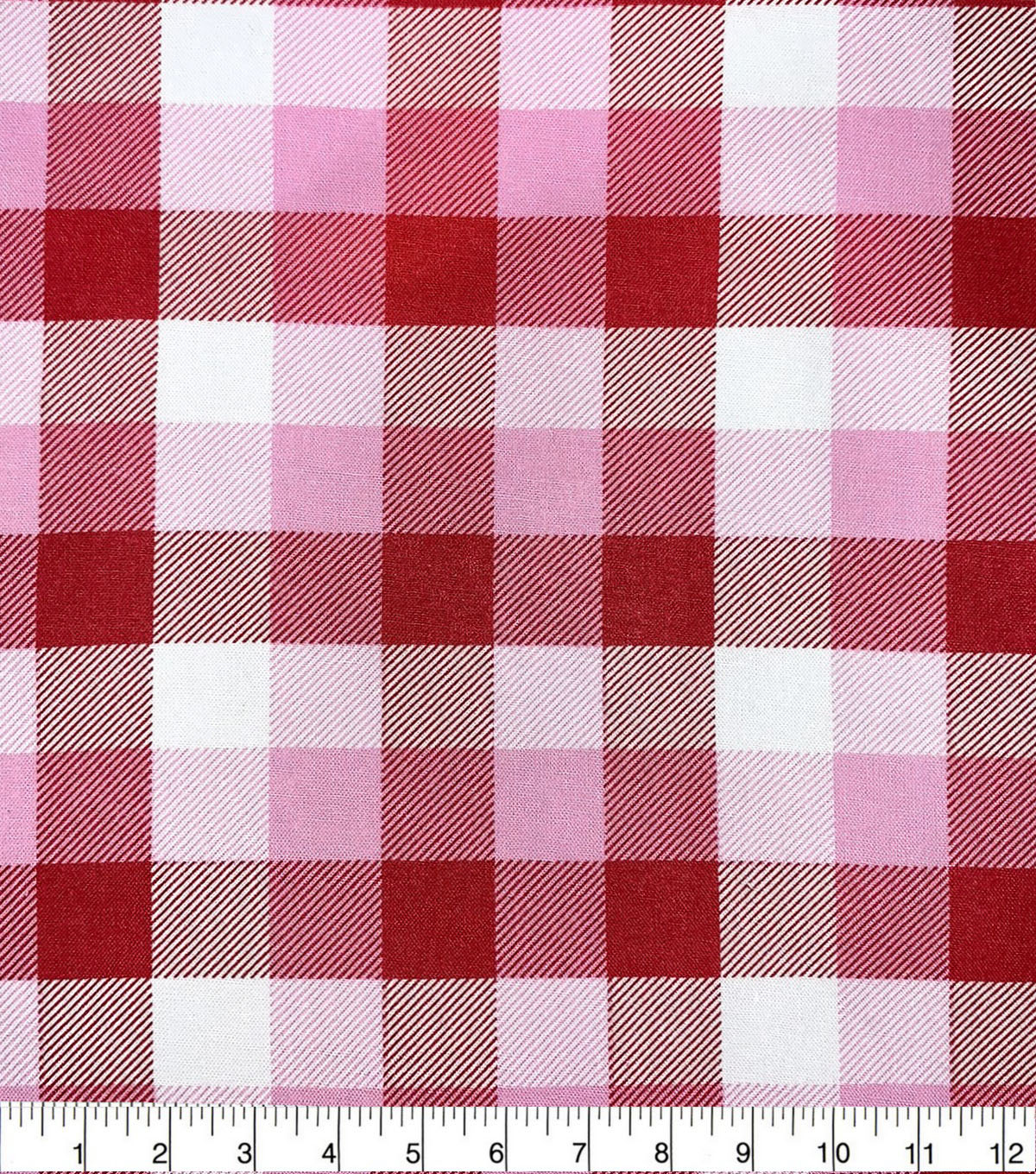 Valentine\u0027s Day Cotton Fabric-Shades Of Pink Plaid