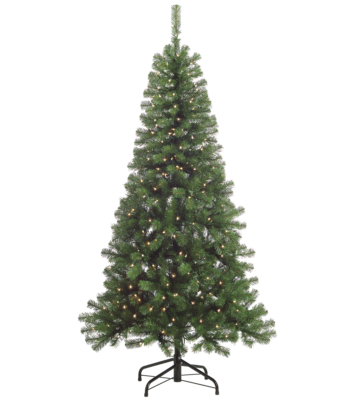 Splendor Pine Tree on Metal Stand with Clear Lights 6.5\u0027