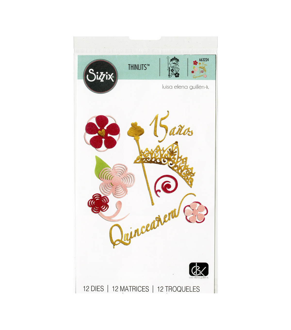 Sizzix Thinlits Dies By Luisa Elena Guillen-K 12/Pkg-Set De Quinceanera