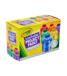 Crayola Washable Metallic Paint 2oz 6/Pkg-