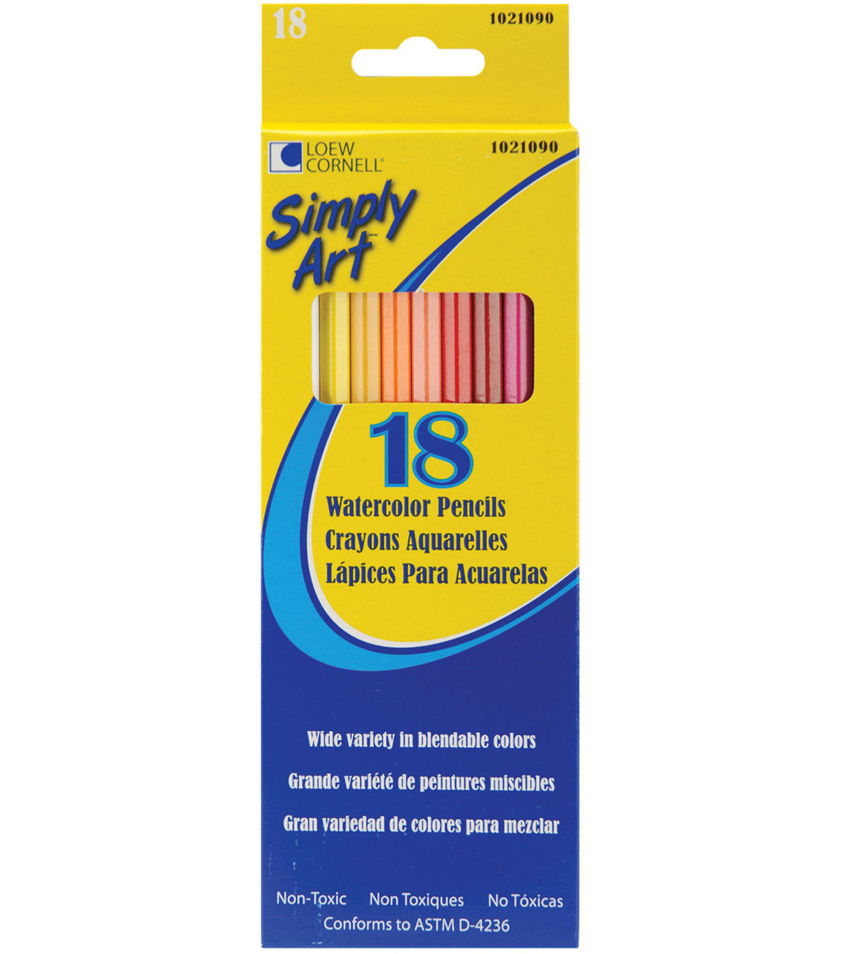 Simply Art Watercolor Pencils-18PK