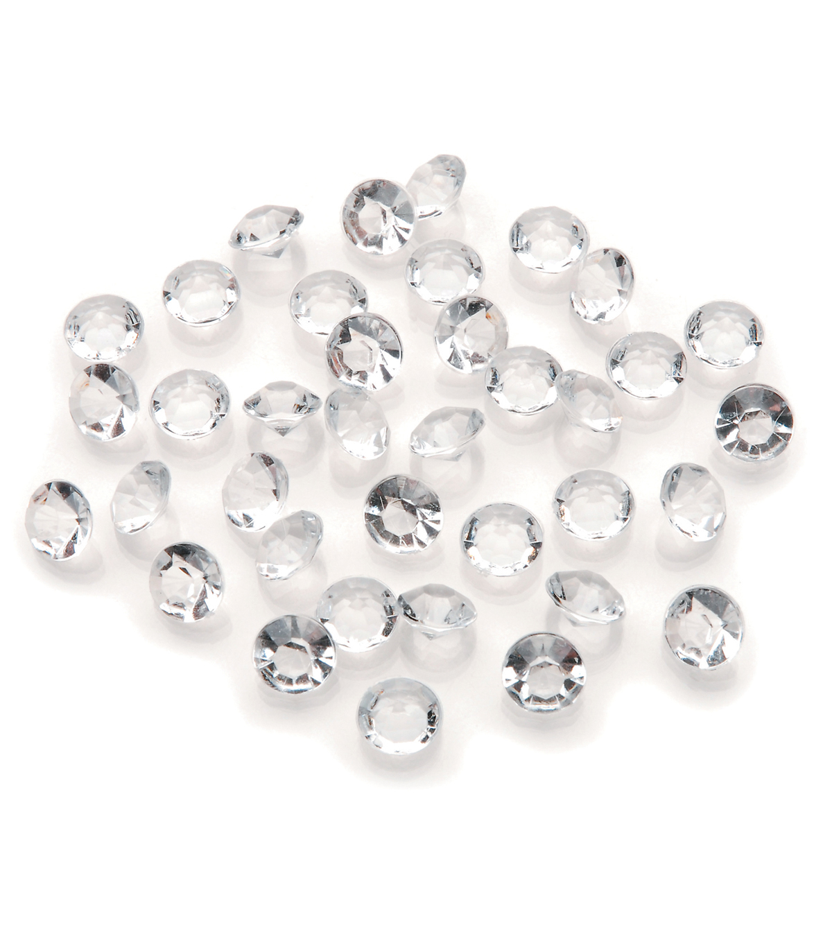 Darice 800pk 8mm/4 Carat Diamond Ice Gems-Clear