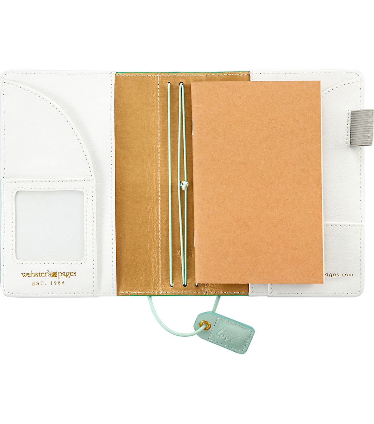 Webster\u0027s Pages Color Crush Pocket Traveler\u0027s Planner-Aspen Green Suede