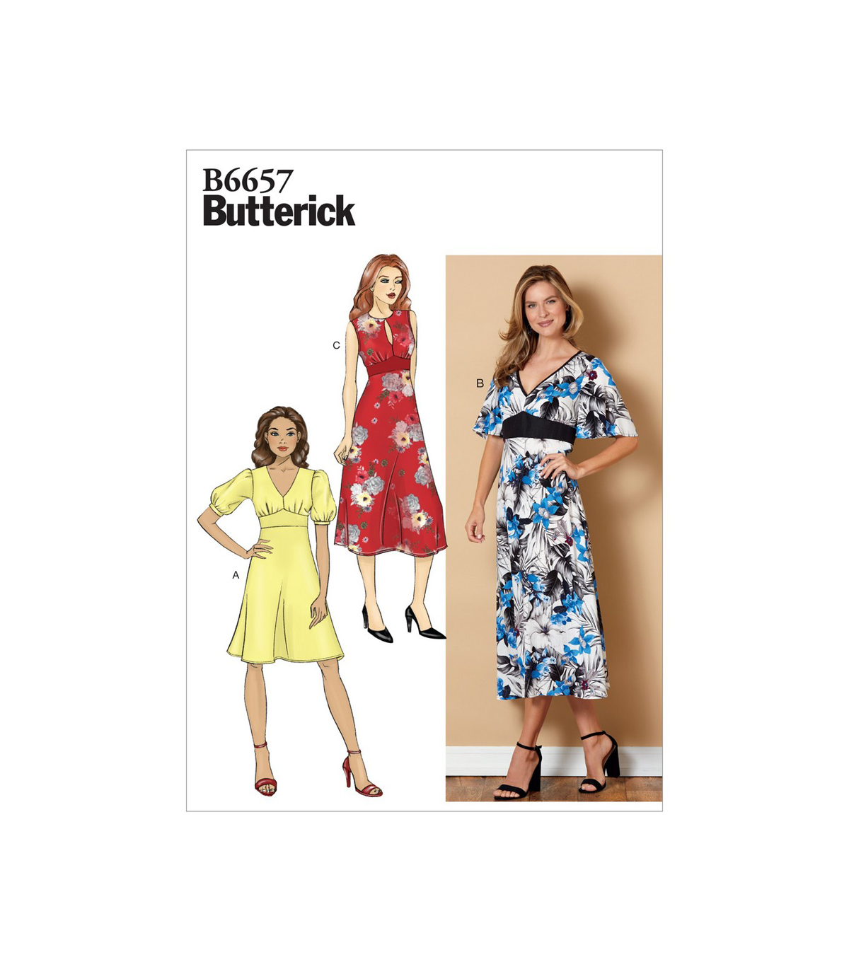 Butterick Pattern B6657 Misses\u0027 Dress-Size 14-16-18-20-22