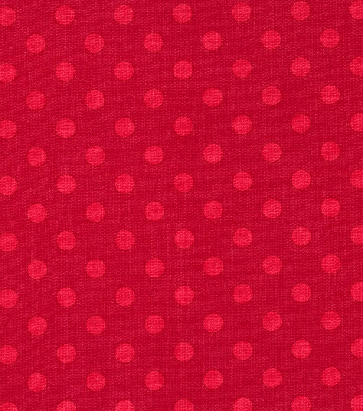 Christmas Cotton Fabric 43\u0022-Red Dots on Red