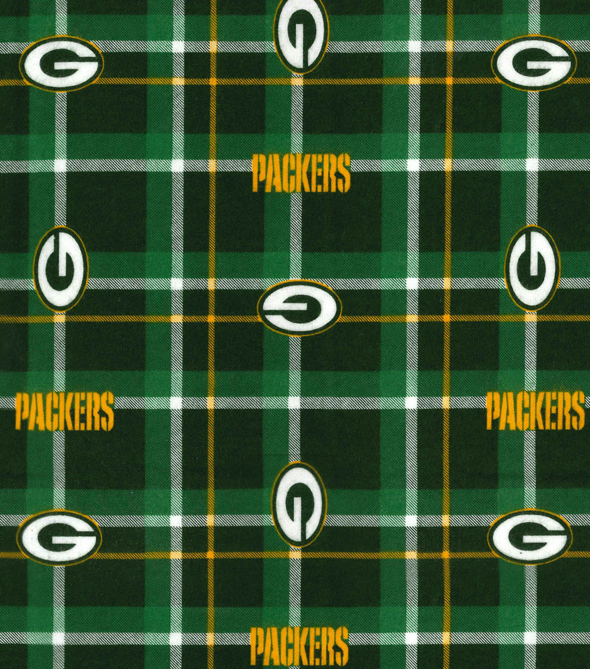 Green Bay Packers Flannel Fabric 42 u0022 - Plaid ddcc8df7d