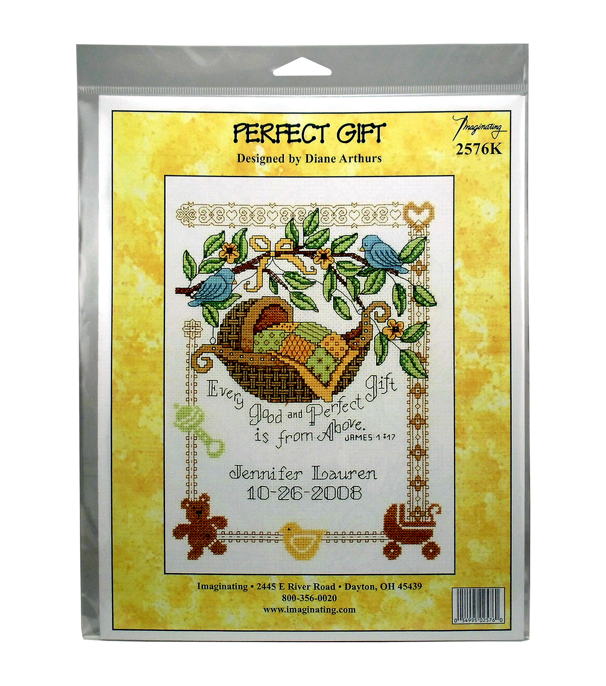 Imaginating Counted Cross Stitch Kit-Perfect Gift Birth Record