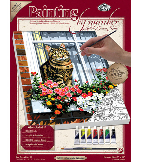 Royal Langnickel Paint By Number Kits Cat In The Window