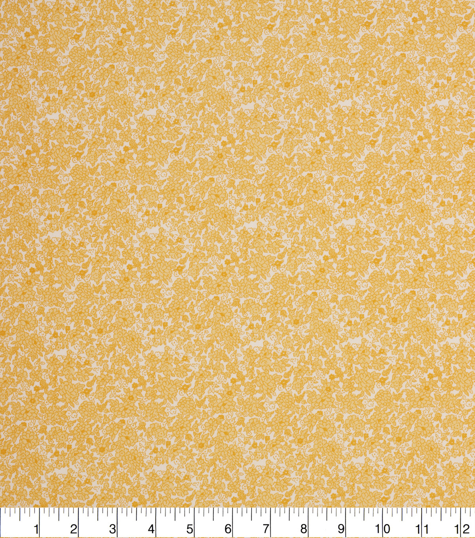 Keepsake Calico Cotton Fabric -Yellow Packed Ditsy Floral