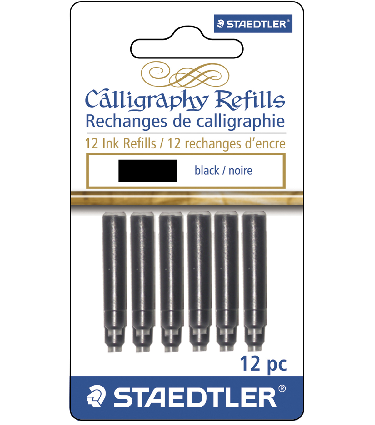 Calligraphy Pen Ink Refills 12/pk-Black