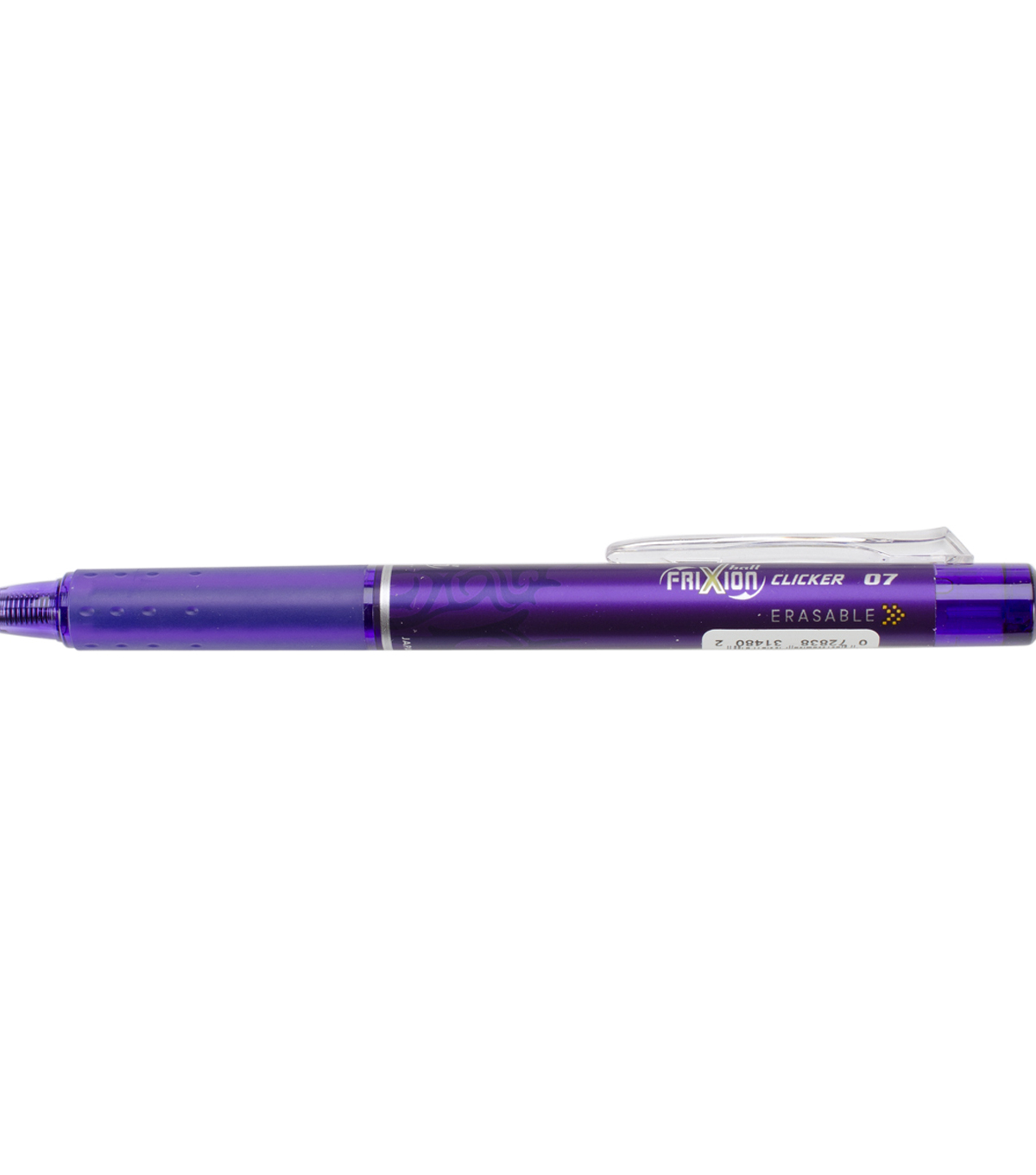 Pilot FriXion Fine Point Clicker Erasable Pen Open Stock-Purple