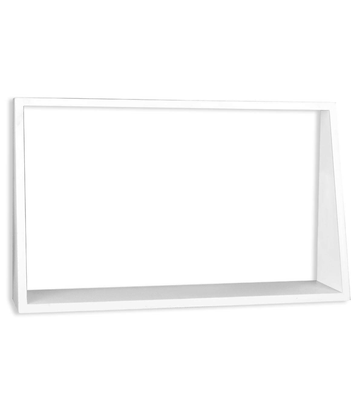 Large Rectangular Wall Shelf-White