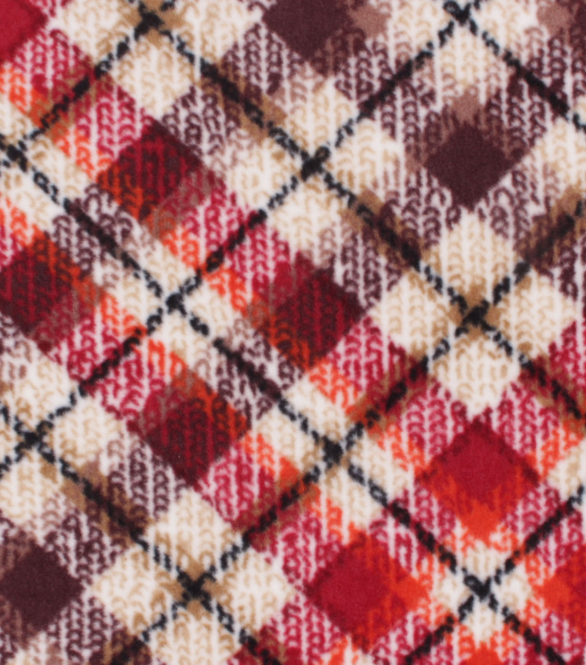 Anti-Pill Plush Fabric-Autumn Plaid