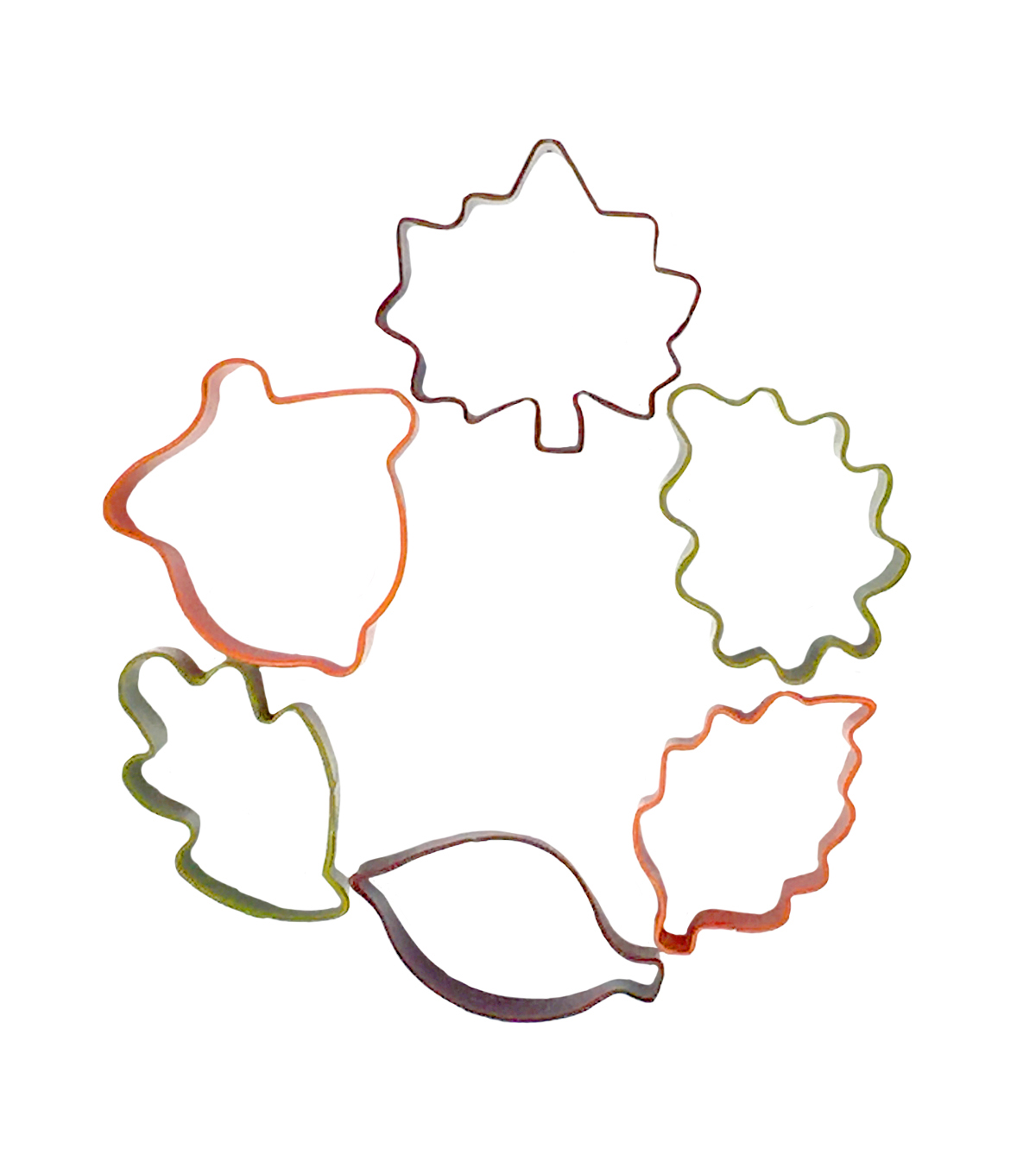 Simply Autumn 6 pk Cookie Cutters-Leaves