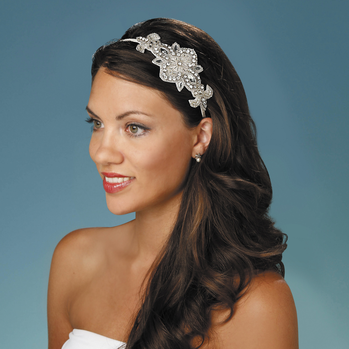 david tutera™ applique embellished side headband, cream color | joann