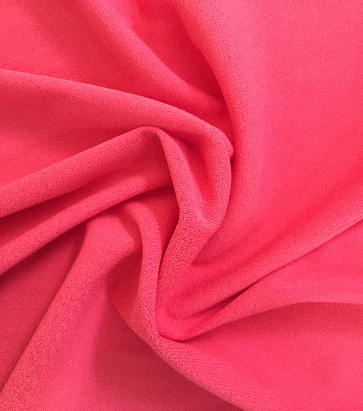 Endless Sea Stretch Crepe Fabric-Coral