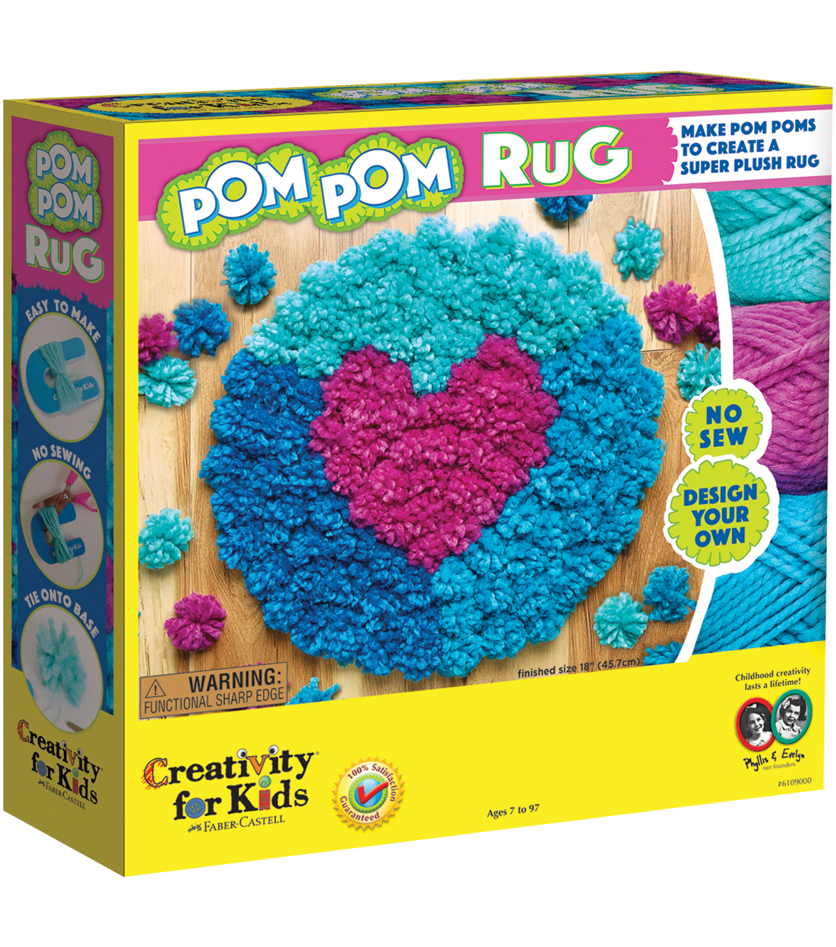 Creativity For Kids Make Your Own Pom Rug Maker Kit