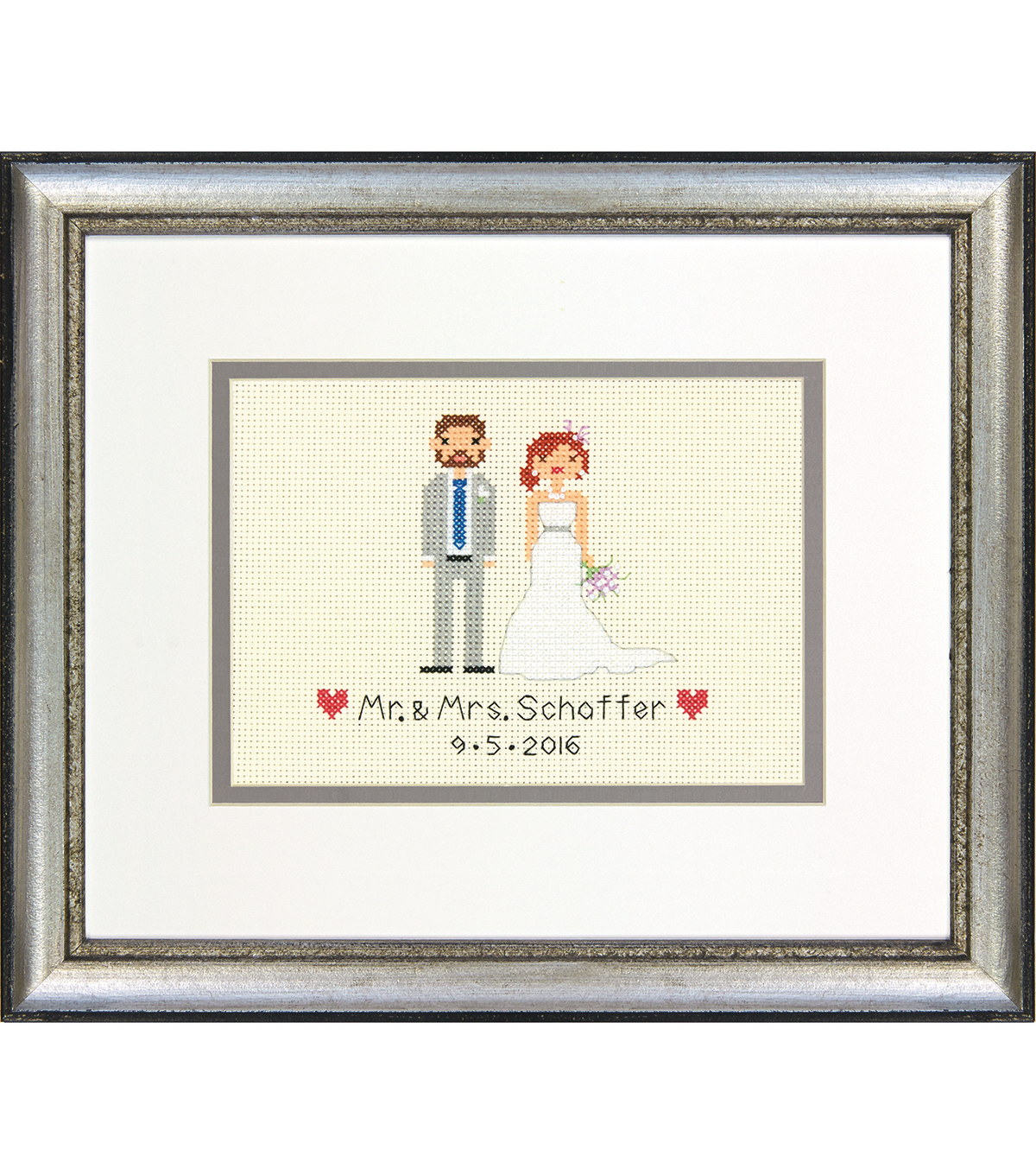 Dimensions Custom Wedding Record Cross Stitch Kit-Bride & Groom
