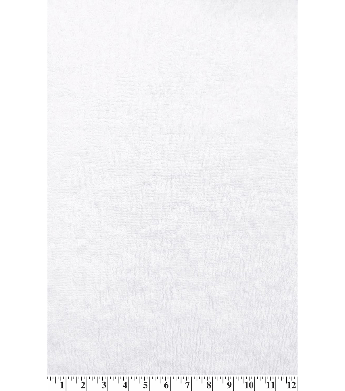 Cotton Terry Cloth Fabric-Solids, White