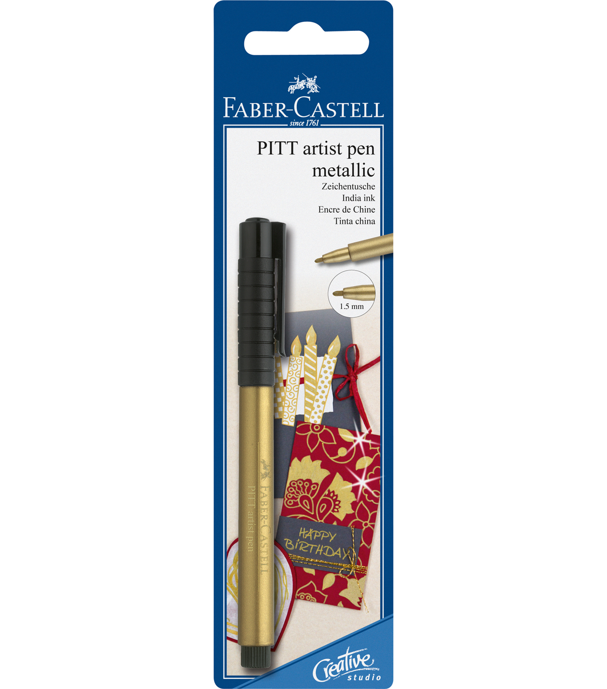 Pitt Pen Metallic Gold