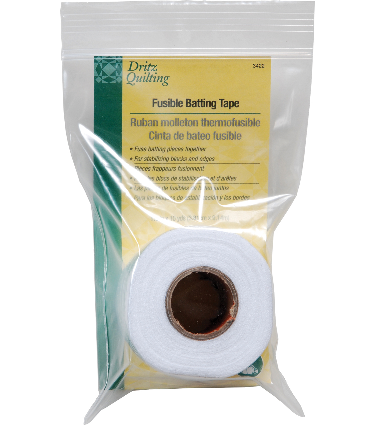 Dritz Quilting 1.5\u0022x10 Yds Fusible Batting Tape
