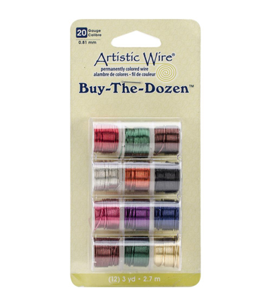 Artistic Wire Buy the Dozen Permanent Colored Wire-12PK/Assorted, 20 Gauge