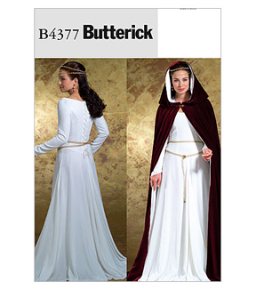 Butterick Pattern B4377-Floor-Length Cape and Princess Seam Dress