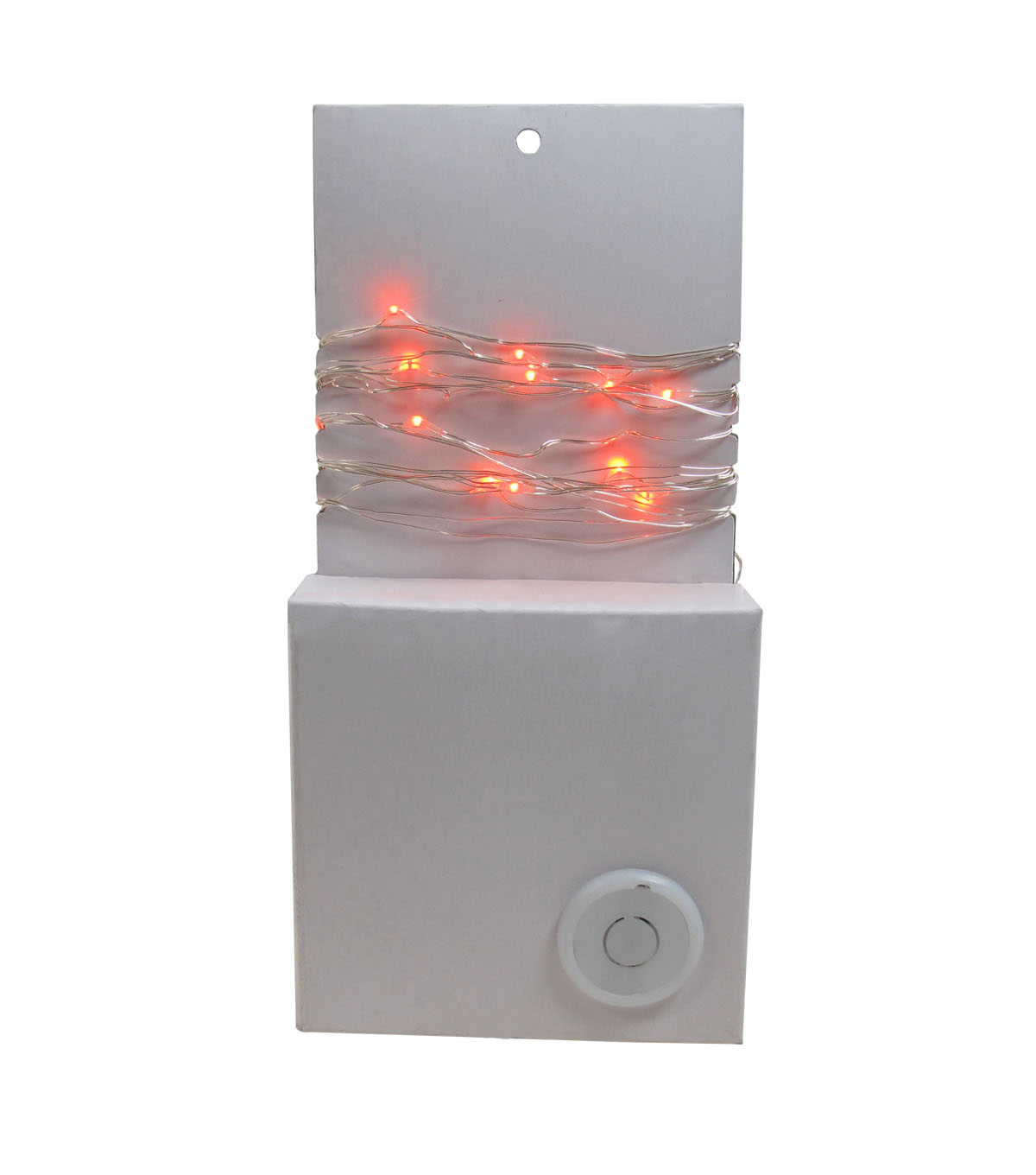 Maker\u0027s Halloween 50 ct Orange Rice Lights with Silver Wire