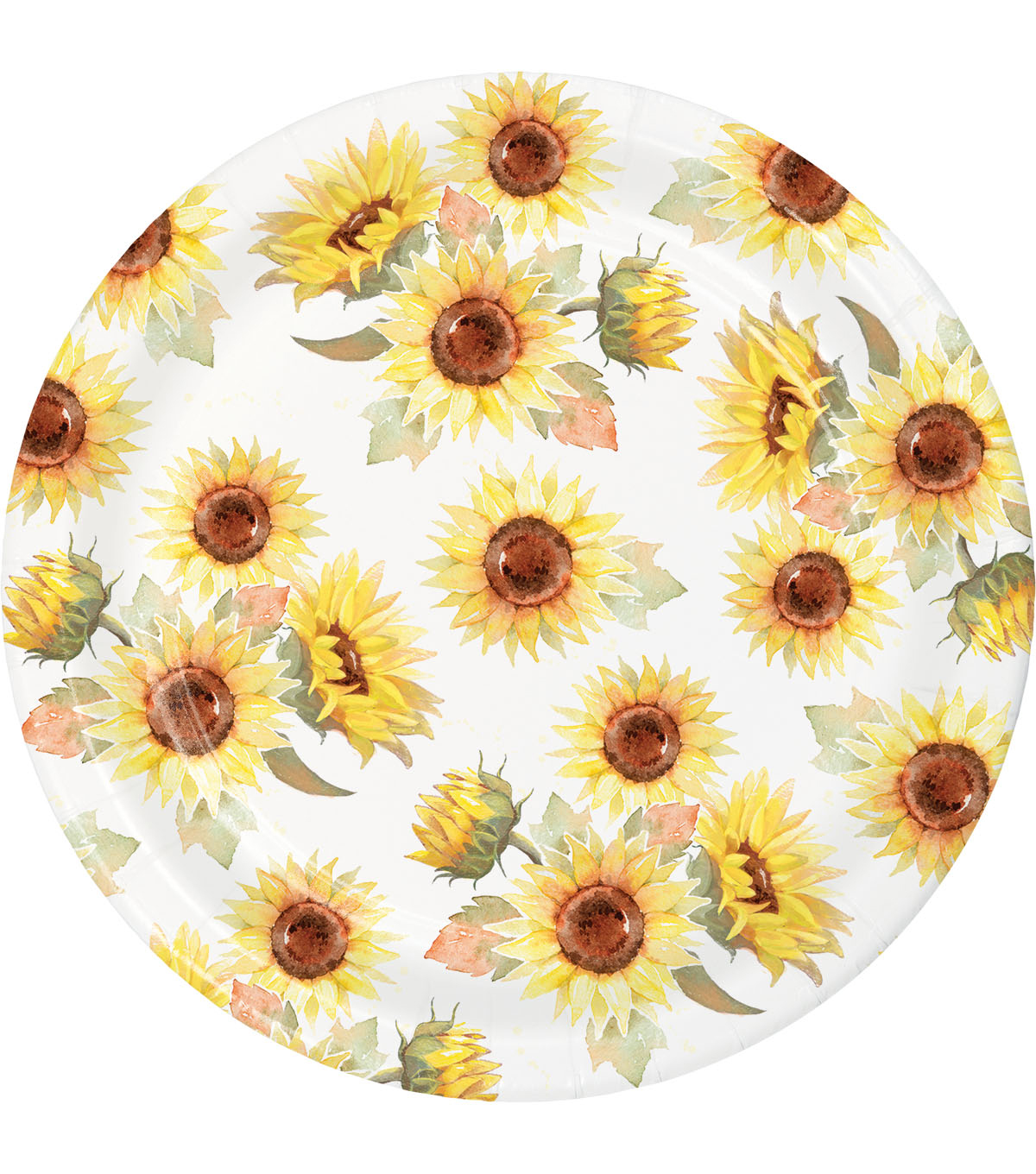 Simply Autumn 8 pk Lunch Plates-Sunflowers