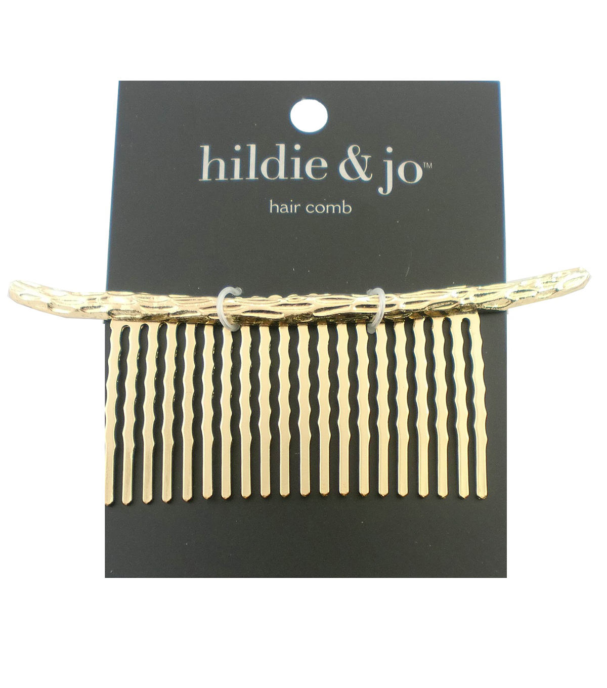 hildie & jo Hammered Gold Hair Comb