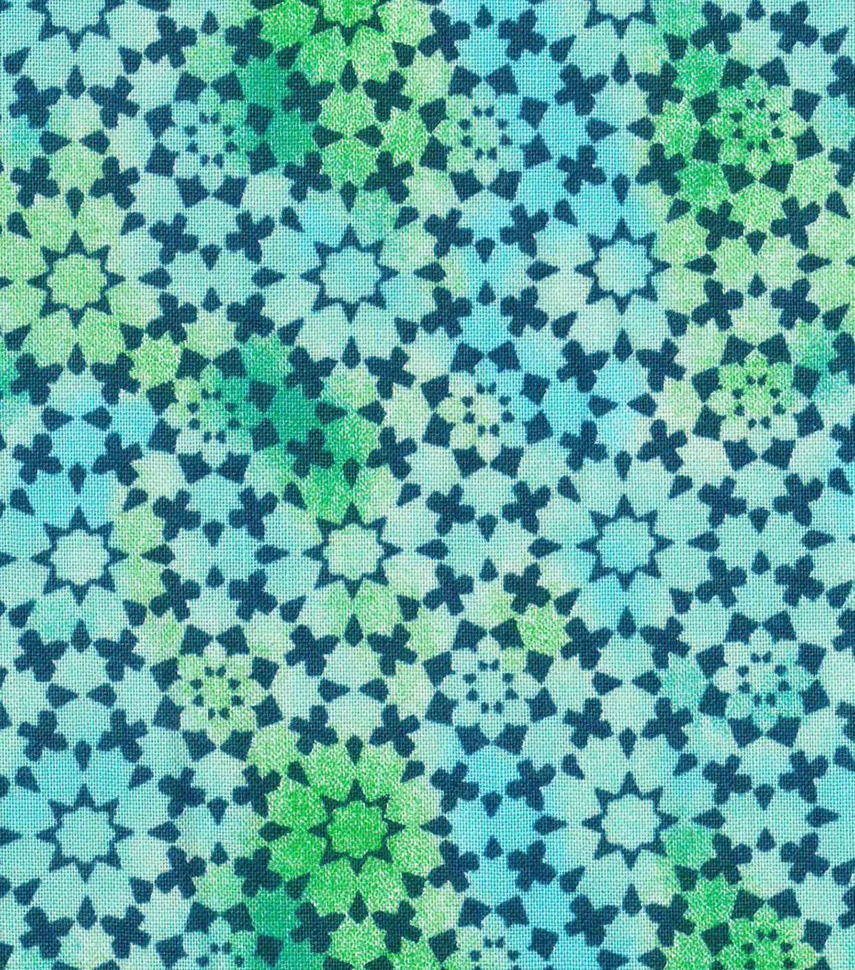 Keepsake Calico Cotton Fabric -Teal Kalediscope Blender