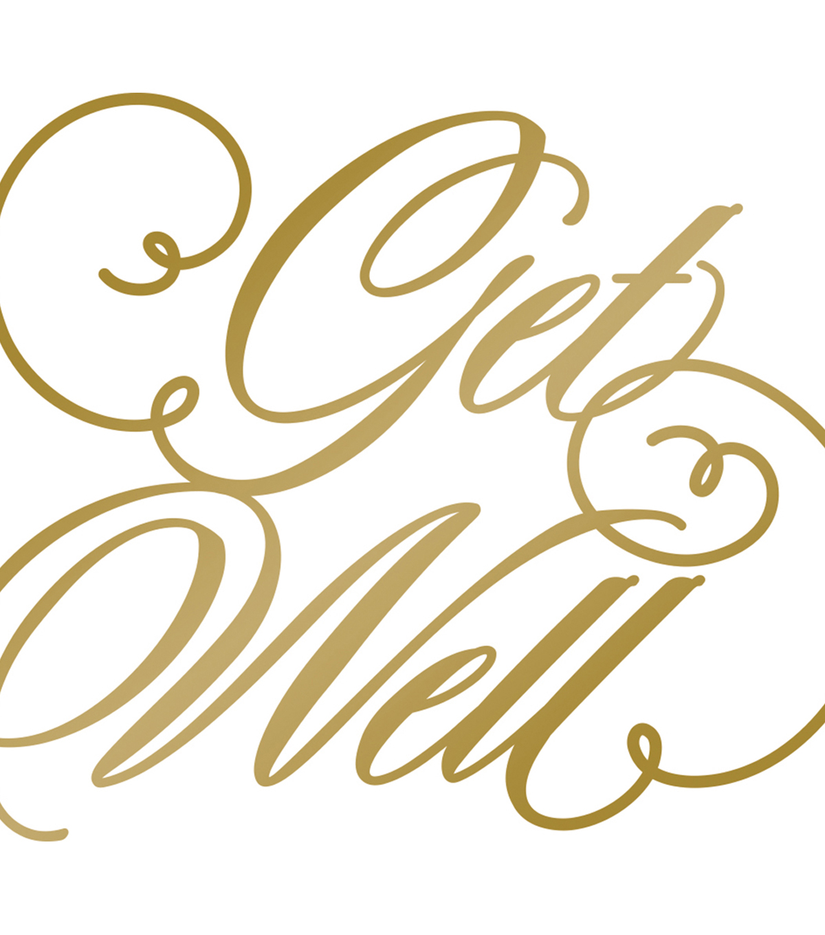Couture Creations Anna Griffin Hotfoil Plate-Get Well