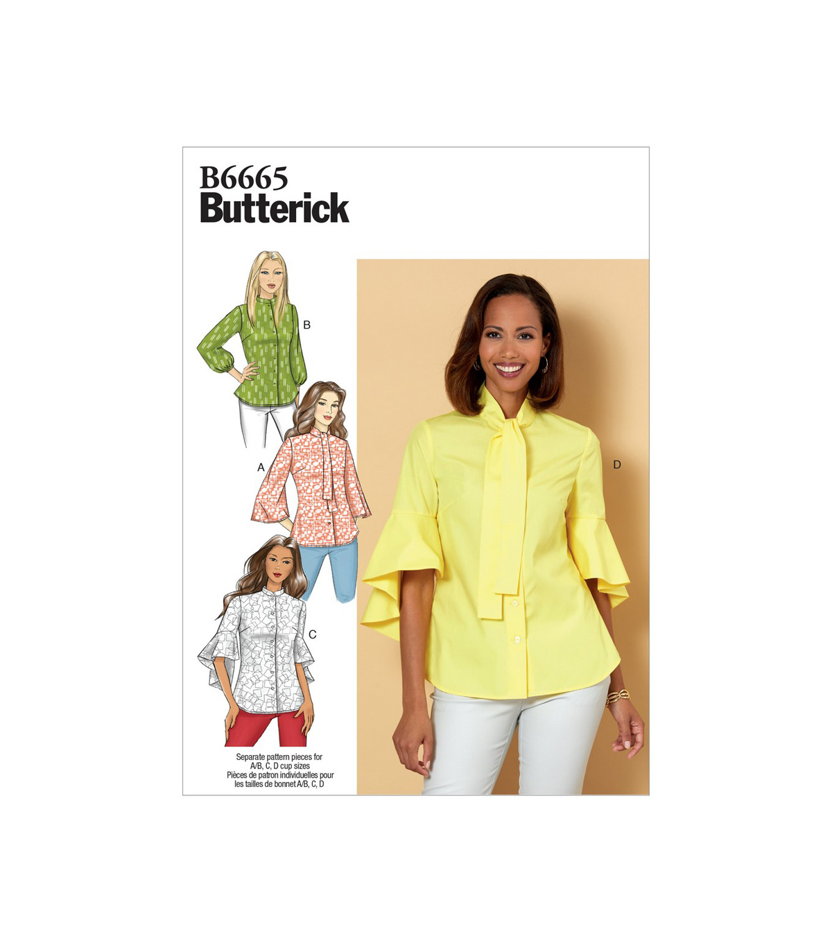 Butterick Pattern B6665 Misses\u0027 Top-Size 14-16-18-20-22