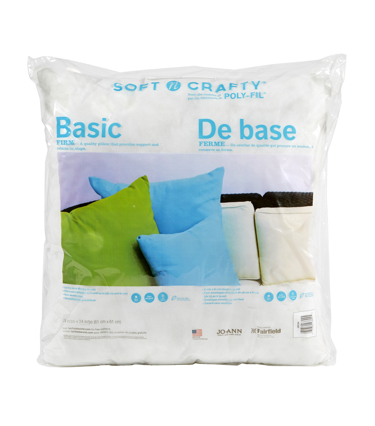 Soft N Crafty Basic 24\u0022 x 24\u0022 Pillow